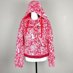 Anthropologie elevenses quilted zip up coat